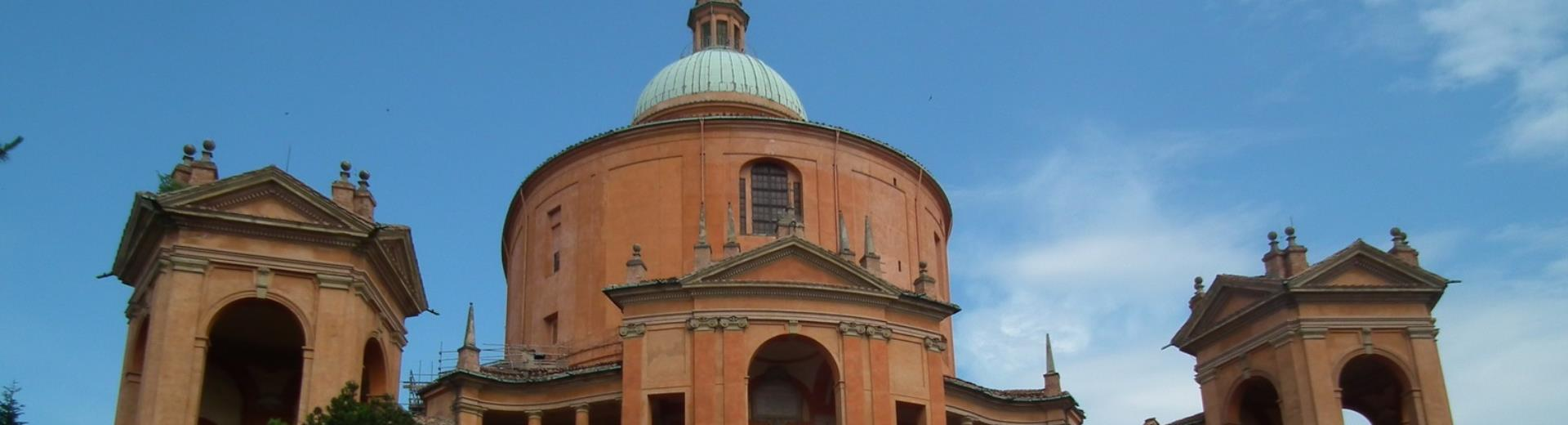 Check out St. Luke''s and the hills of the Best western Hotel San Donato Bologna