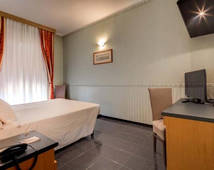 Convenience and comfort in the economy room of the BW Hotel San Donato in Bologna