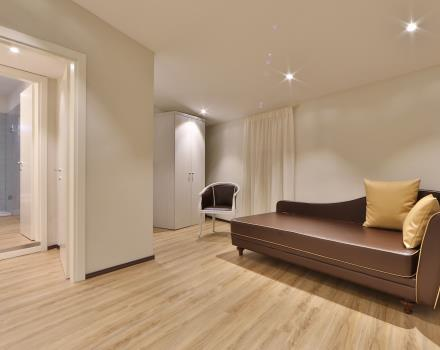 Modern and spacious Family rooms for 4 people at the Hotel San Donato