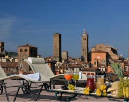 Available now the super panoramic terrace at the Best Western Hotel San Donato in Bologna. Parking available nearby .