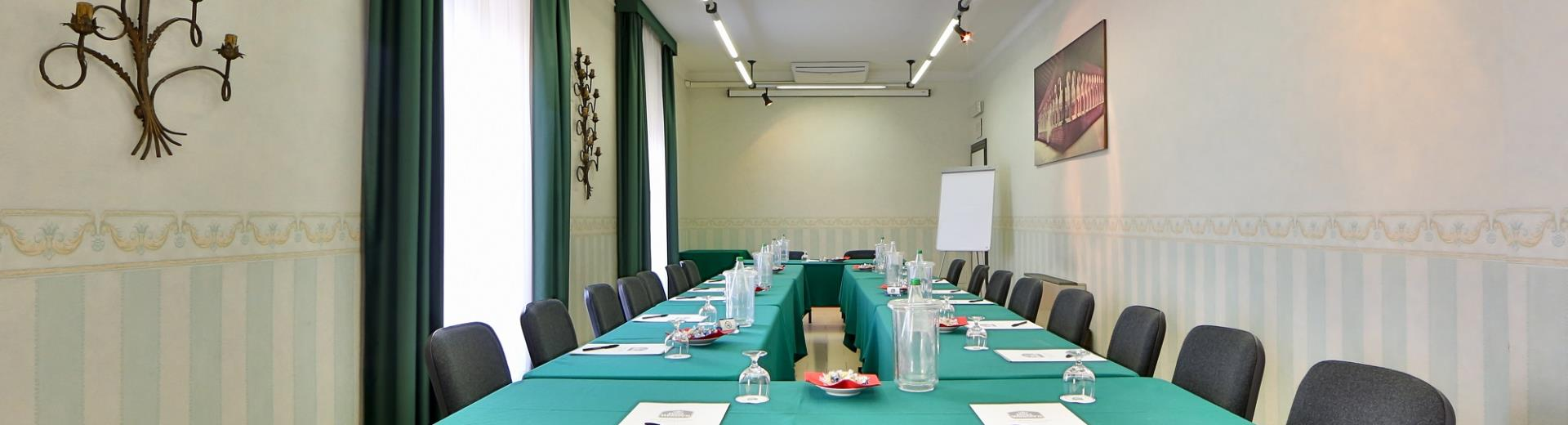 Meeting rooms and meeting rooms at the Hotel San Donato Bologna