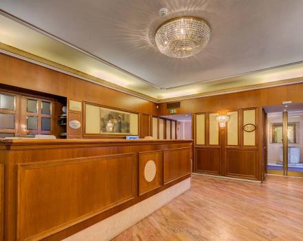 The hall of the 4-star Best Western Hotel San Donato Bologna
