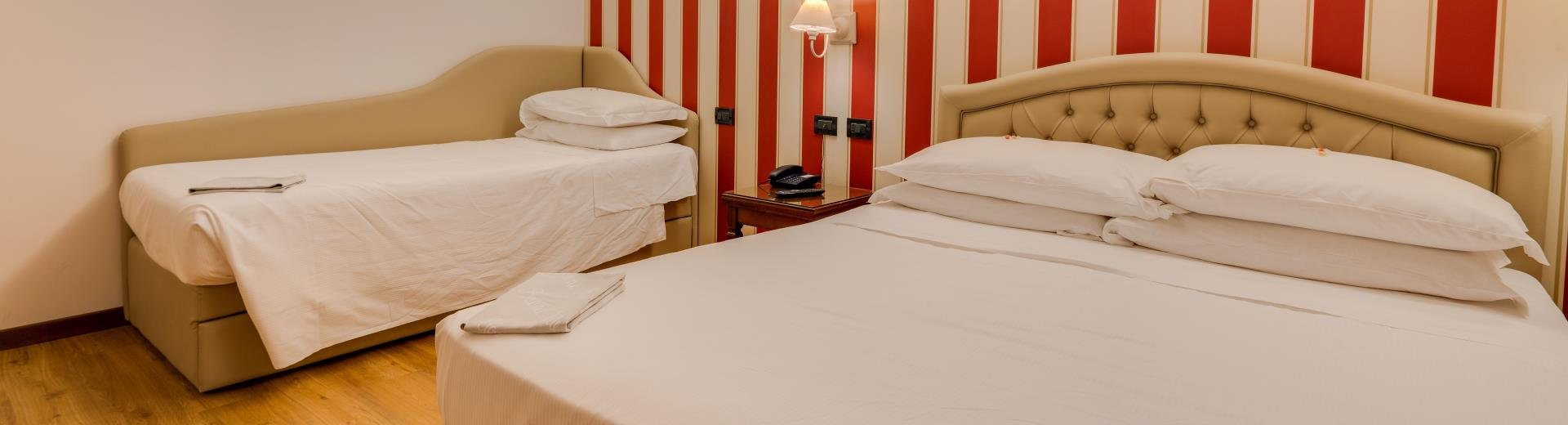 The family rooms x 3 people at the 4-star Best Western Hotel San Donato Bologna